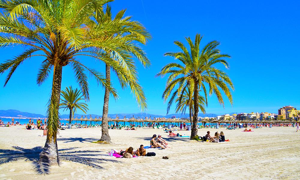 Sol og strand – du får dem begge i Palma! Foto: Torild Moland