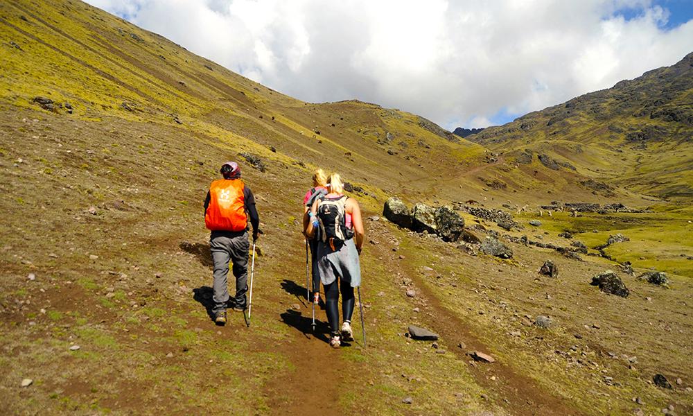 Etappene er lange, men naturen er flott og det blir god tid til restitusjon mellom etappene. Foto: Ingrid Holtan Søbstad