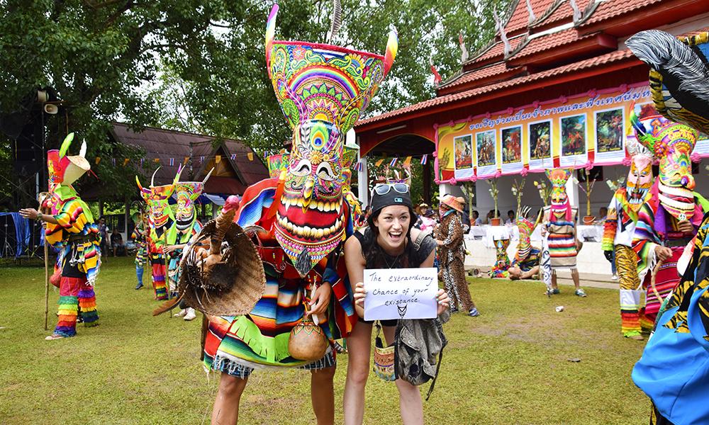 Amy Gibson driver bloggen Xstatic World, og har som mål å besøke alle verdens festivaler. Foto: Mari Bareksten