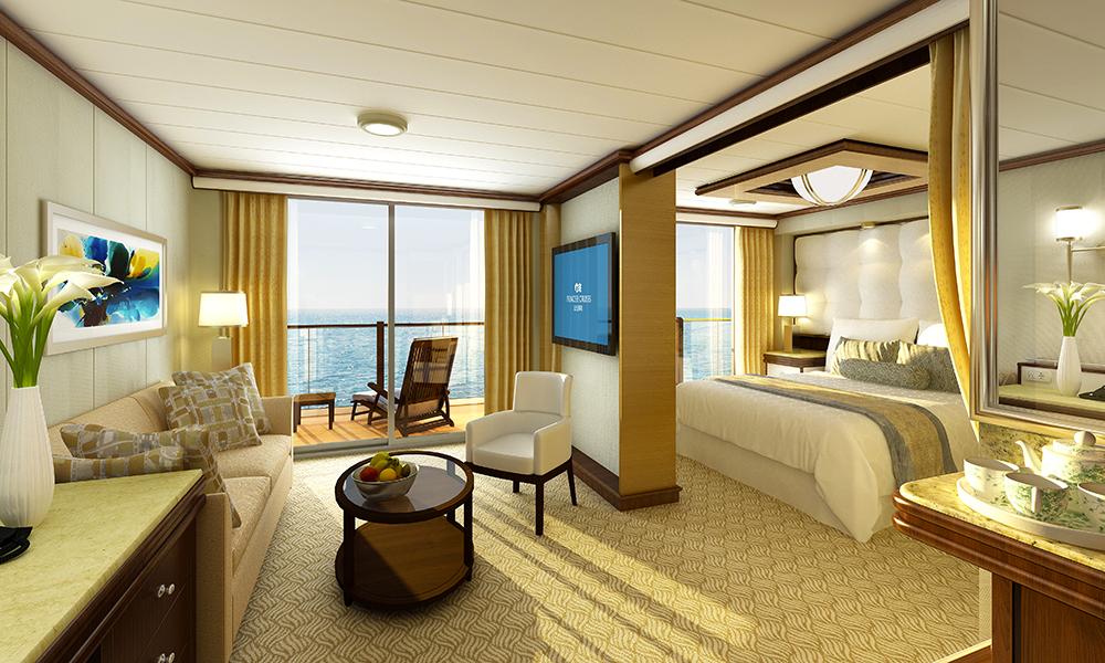 Aller finest bor man i en av suitene ombord. Foto: Princess Cruises