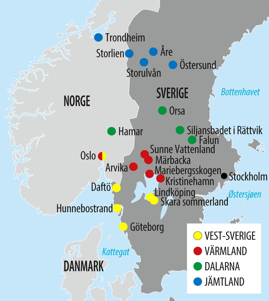 sverige kart falun Ta med familien på biltur til Sverige sverige kart falun