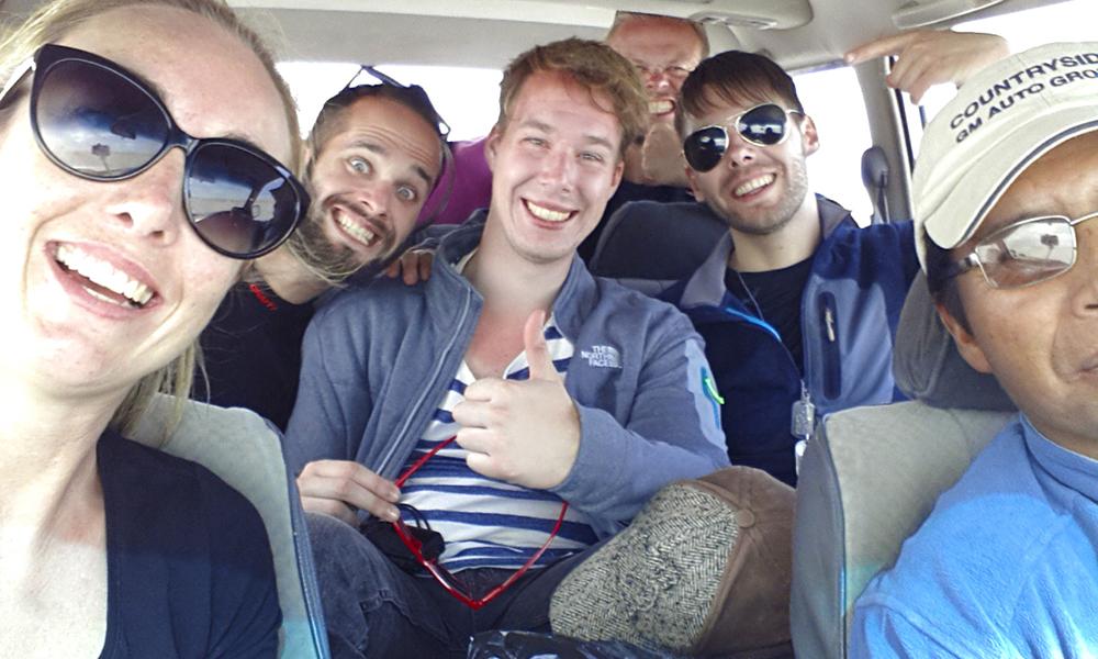 Et hyggelig reiseselskap med andre eventyrlystne gjør opplevelsen komplett. Foto: Helene Iversen