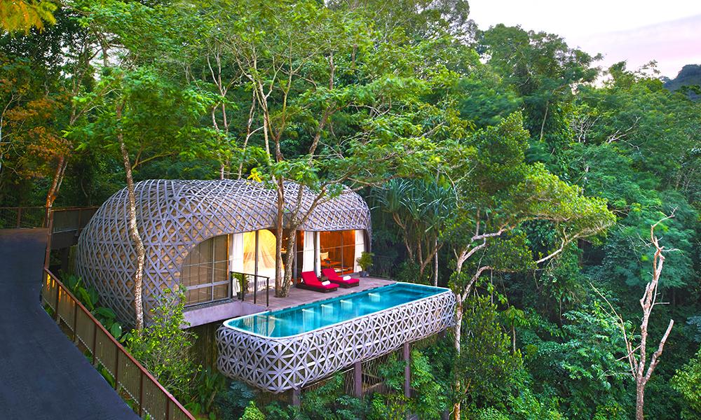 De spesielle bassengvillaene er tegnet av thailandske arkitekter og badekarene er hugget i stein – på Keemala er det meste nøye gjennomtenkt. Foto: Keemala