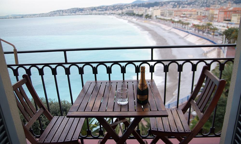 Utsikt fra Hotel Suisse. Foto: Privat