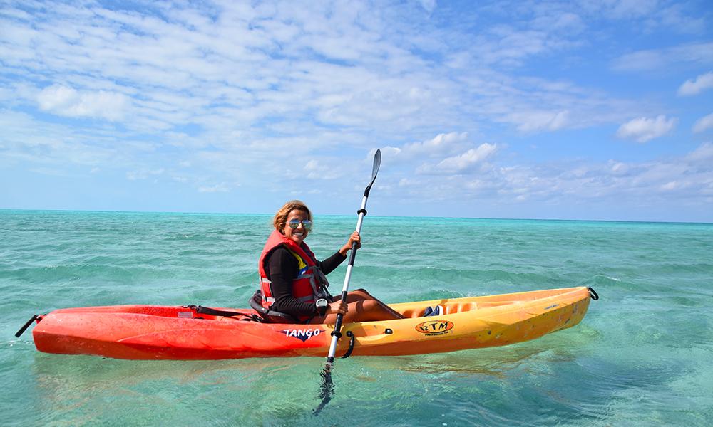 Det er RCCL som eier den lille øya CocoCay, og cruiseselskapet arrangerer flere aktiviteter på øya. Foto: Mari Bareksten