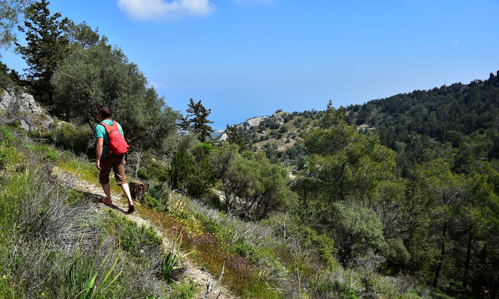Fint for tur: Kyreniafjellene har mange merkede stier. Foto: Torild Moland