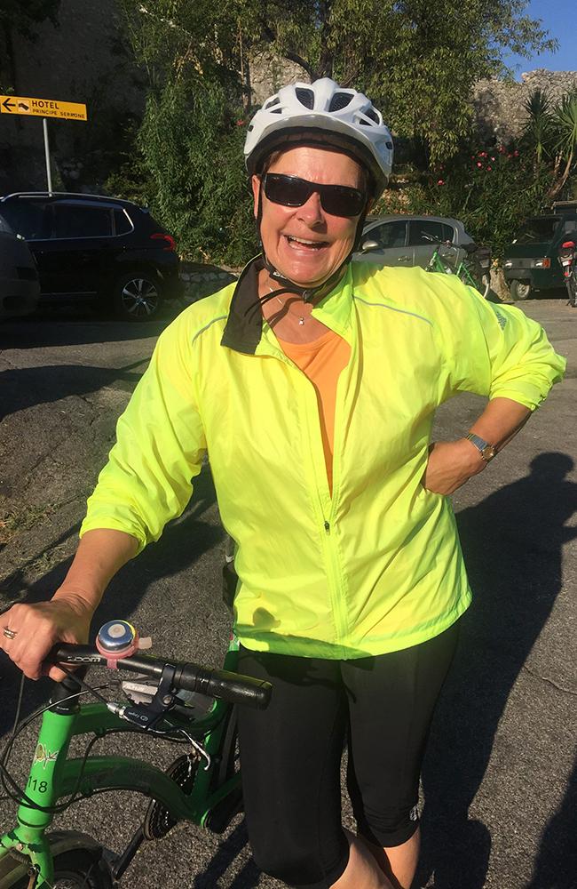 Anne Margrethe Dagl er klar for dagens etappe. Foto: Anette Moe