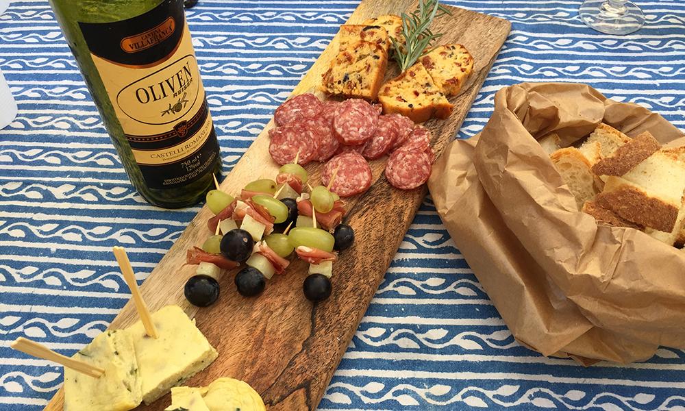 Ekte, italiensk lunsj – NAM! Foto: Anette Moe