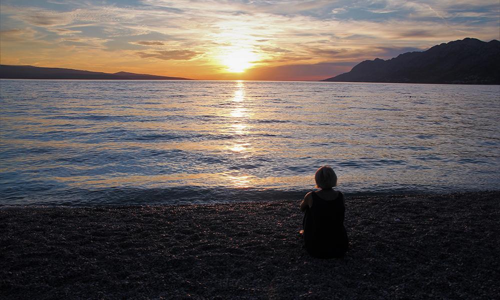 Solnedgang over Adriaterhavet. Foto: Sophie Antonsen