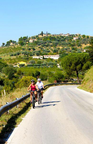 De fleste veiene vi sykler på er lite trafikkerte og dermed perfekt å ferdes på på to hjul. Foto: Ida Anett Danielsen