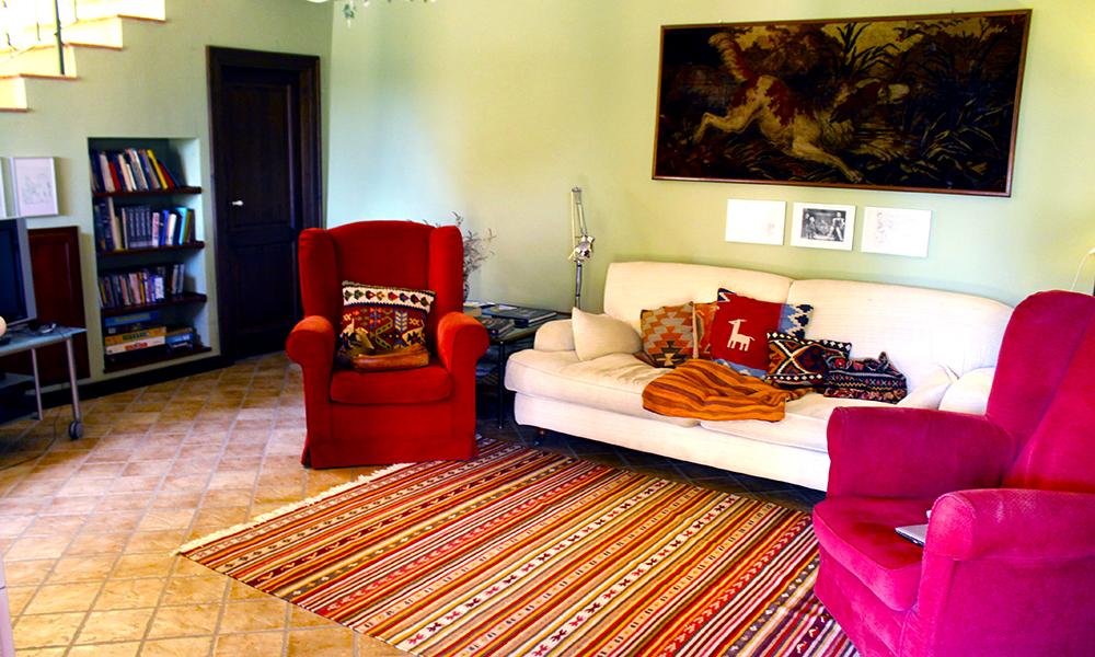 Sisals bed and breakfast har også en koselige stue tilgjengelig for gjestene. Foto: Ida Anett Danielsen