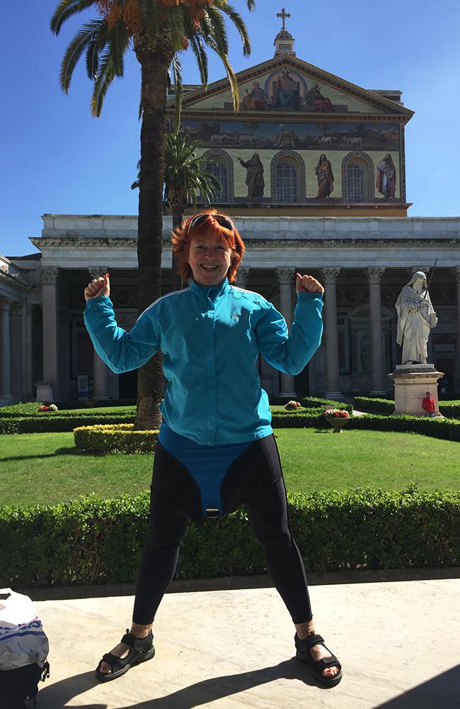 Inger-Lise Palm måtte ta genseren på bena. Foto: Anette Moe