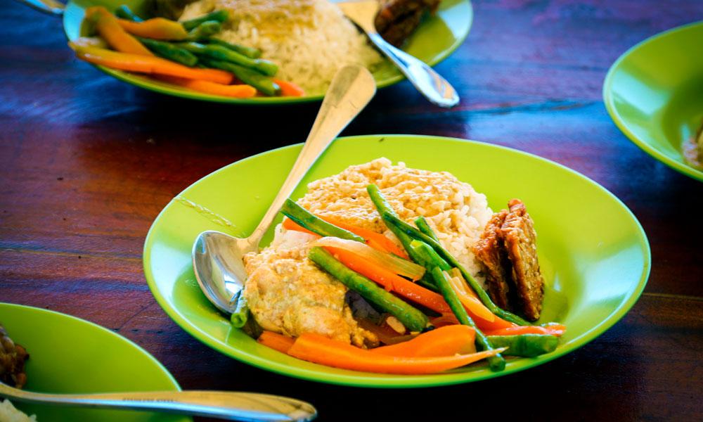 De spennende smakene fra Balis kjøkken er et mekka også for vegetarianere. Foto: Preben Danielsen