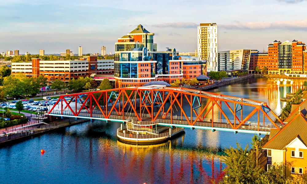 Manchester har også opplevd en solid ansiktsløfting de siste årene. Fra å være grå og trist industriby, har den blitt en skikkelig metropol. Foto: Istock