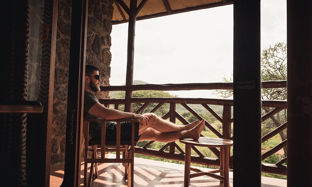Lunsjpause på Kilaguni Serena Safari Lodge. Foto: Stian Klo
