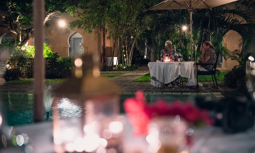 Middag på Medina Palms. Foto: Stian Klo