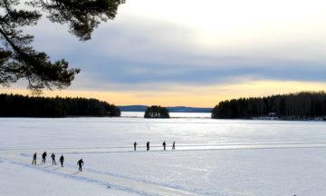 Innsjøen Runn, som ligger nær Falun, er Sveriges skøyteeldorado. Foto: Ida Anett Danielsen