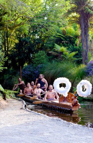 Maorier i båt