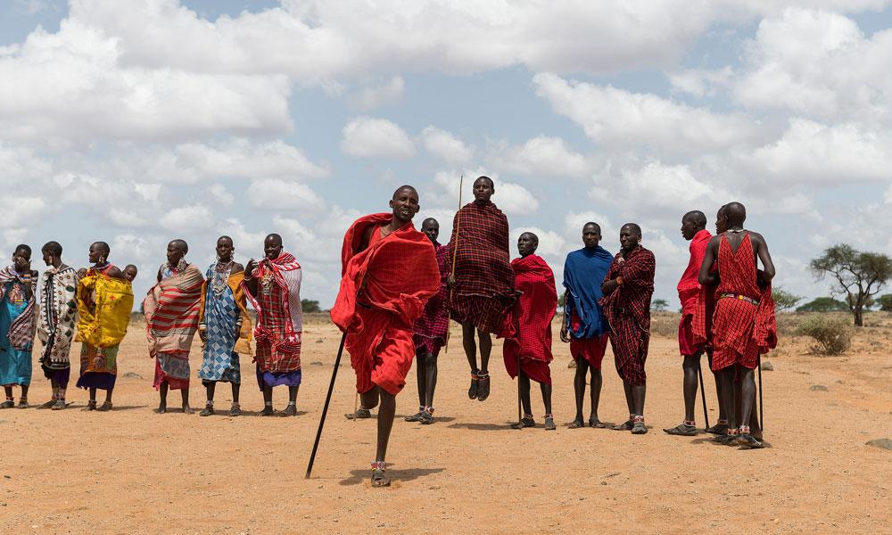 Masaier som danser