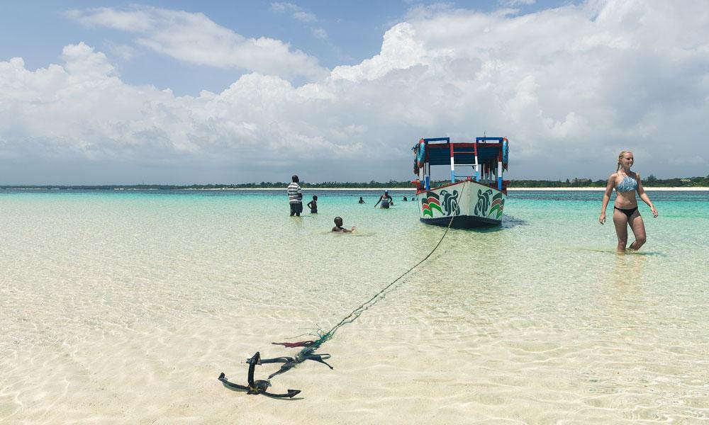Båt på stranda