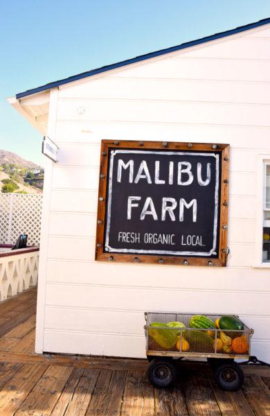 Malibu farm skilt.