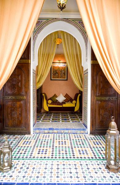 MAGISK: Kunne du tenke deg å bo her? Marrakech kryr av vakre riader. Foto: Angasana riad