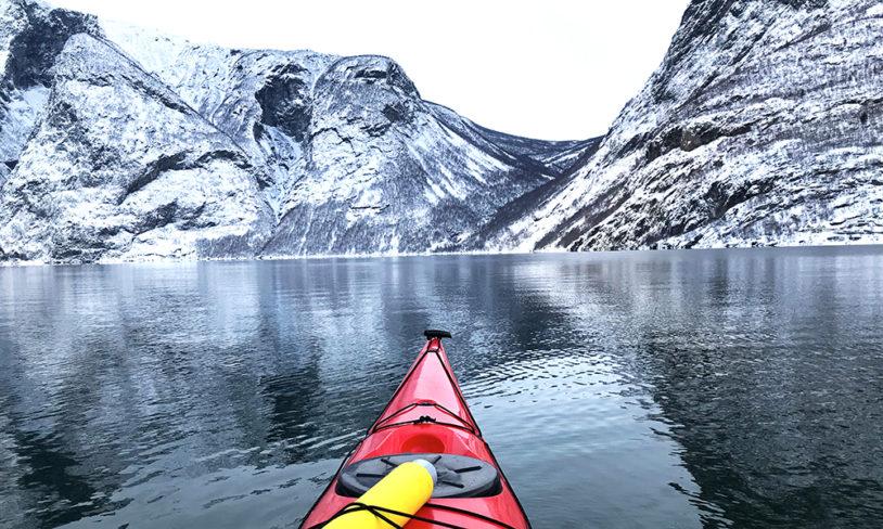 4 Vinterpadling i Sognefjorden
