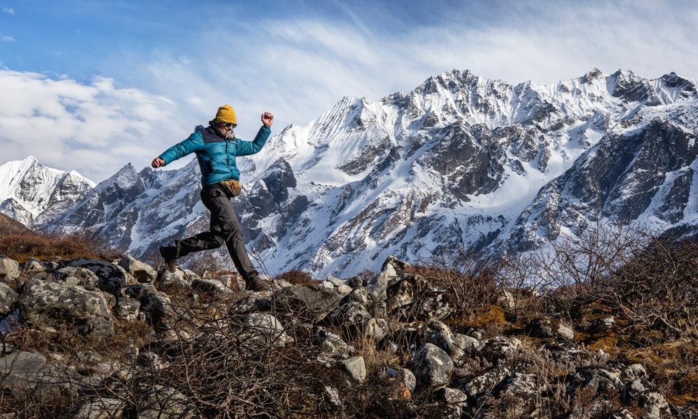 Fjellandskap i Nepal