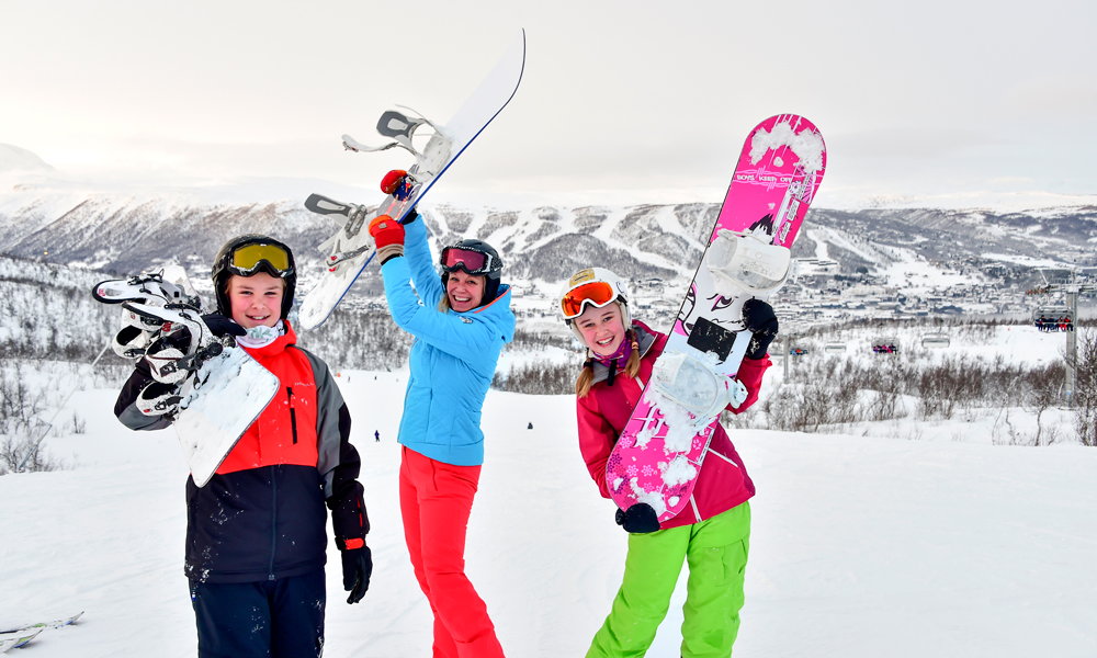 Snowboardkjørere